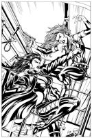Codename: X-Girl Cover - Inks by Elisa-Feliz