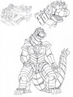 PR G-Force: Godzilla Zord by Deadpoolrus