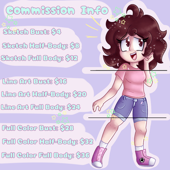Commission Info!! [OPEN][ACCEPT POINTS] by Kiwizzy