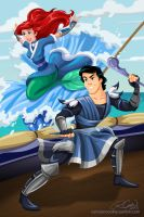 Prince Eric and Ariel of the Water Tribe by racookie3