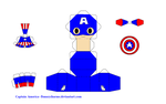 Captain America Papercraft Template by bunnycharms