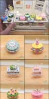 1:6 Cake and Cupcake Commission Details by PepperTreeArt
