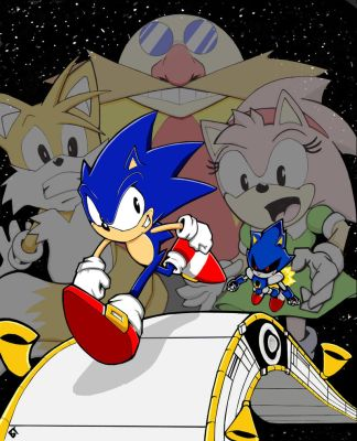 Sonic Cd Contest entry 'Race to the Finish'' by Vauz