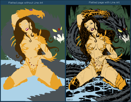 Flatting Practice - Witchblade by tinkfan83