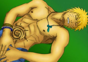 Naruto Pin up Coloured by dante2050
