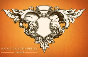 WG Highly detailed shields vol by wegraphics