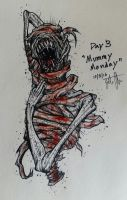 Drawlloween Day 3: Mummy Monday by skellington1