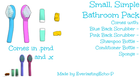 MMD - Small, Simple Bathroom Pack by PoTatterTot