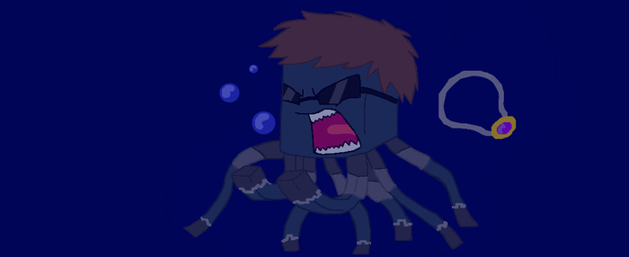 Skydoesminecraft as a squid (youtubers as) by Gameaddict1234