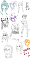 Gaia: Sketch dump4 by Jika-Jika