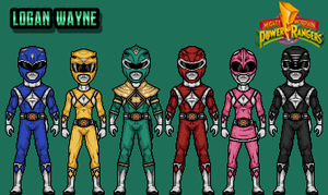 Mighty Morphin Power Rangers - Green Variation by LoganWaynee