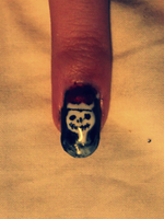 Jack Skellington nail by Amythealien