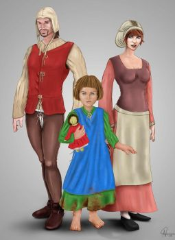14th Century Family by rotsentu