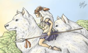 Princess Mononoke by sarumanka