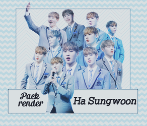 PACK RENDER #4 - HA SUNGWOON by SaphiaDesigner