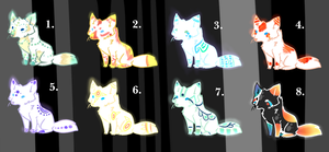 Fox Adoptables by theperfecta