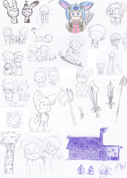 Scribbles from school by LeniProduction
