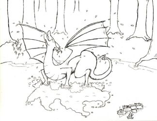 The bathing Dragon by dragonmind
