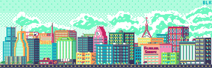 Little city XL by DecaydBlacked