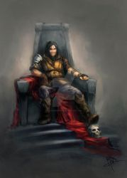 Speed Painting (Commission) - Throne by MyNameIsByron