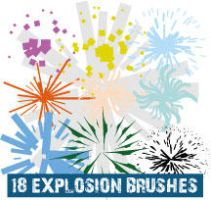 Explosion Scatter Illustrator Brushes by Brushportal