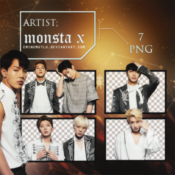 Monsta X - PNG Pack by eminemutlu