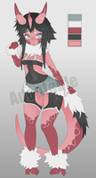 Red Dragon Girl ADOPTBLE on FA by CoffeeChicken