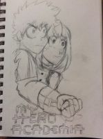 Izuku Midoriya and Ochaco Uraraka by doctorwhooves253