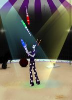 Juggling in the lights by buchi96