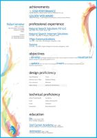 Creative resume by pipolipopi