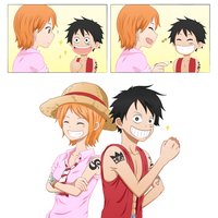 Luffy x Nami - Color Spread Continuation by Orenji924