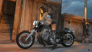 biker lady III by blueyguana