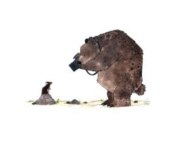 Bear and Mouse by morganobrienart
