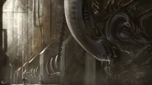 Alien II by highdarktemplar
