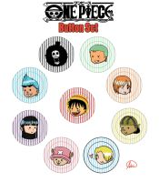 One Piece Button Set by Snuckledrops