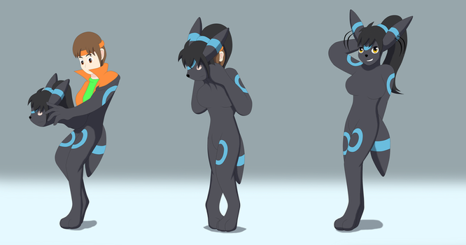 Shiny Umbreon TF suit by Avianine
