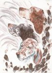 Traditional Commission- English Setters by Lilith-the-5th