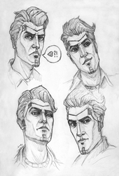 Handsome Jack sketches by searoth