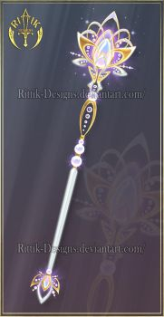(CLOSED) Flower of Life, staff adopt by Rittik-Designs