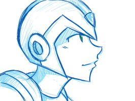 Sketch: Rockman X by anibunny