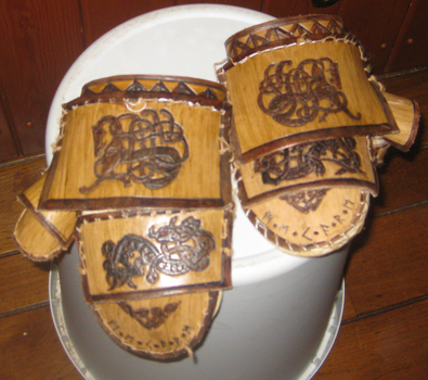 Viking Armour Gauntlets by davevdveer
