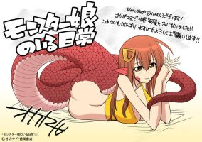 Monster Musume V4 Bonus Miia Pin-Up by JohnThomasJ