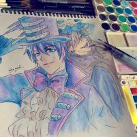 Vincent and Undertaker by HanaRyouta