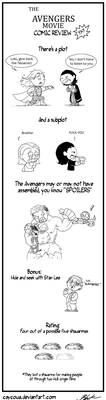 The Avenger movie review comic yay by caycowa