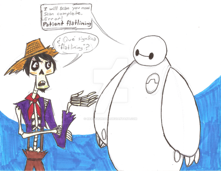 Baymax scans Hector by Scared2dream