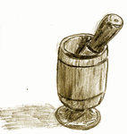 [D37] Wooden Mortar And Pestle by RetSamys