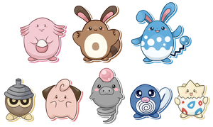 Egg-shaped pokemons