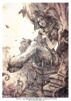 Satyre with a cat (La Saison du Declin ) by Morgan-chane