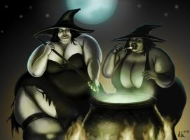 Weighty Witches by Ray-Norr