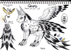 Gryfo and Lunar's Reference Sheet by KrestenaWolfShadow